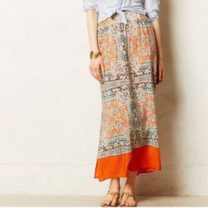 Anthropologie - Vanessa Virginia Silk Maxi Skirt